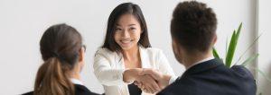 coworker handshake